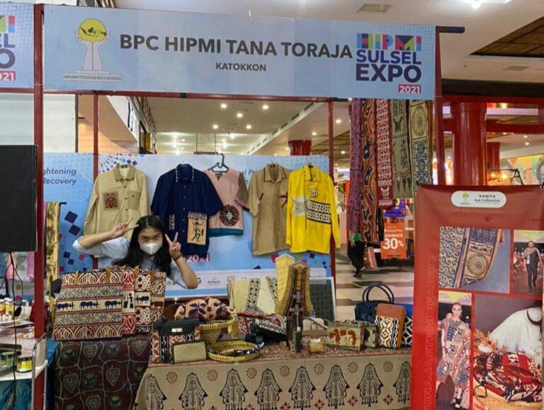 Toraja Tampilkan Kain Khas Sarita di Expo HIPMI Sulsel